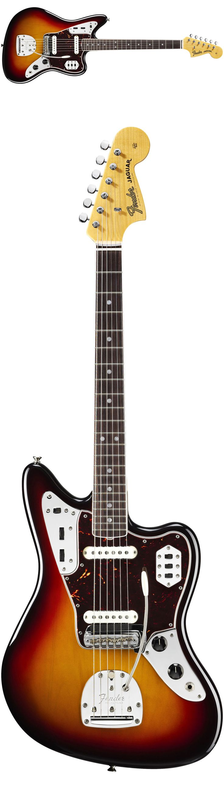 Fender American Vintage '65 Jaguar Electric Guitar The American Vintage '65 Jaguar marks a key chapter in Jaguar history. That is, after surf and before punk, when the sole '60s member of Fender's big