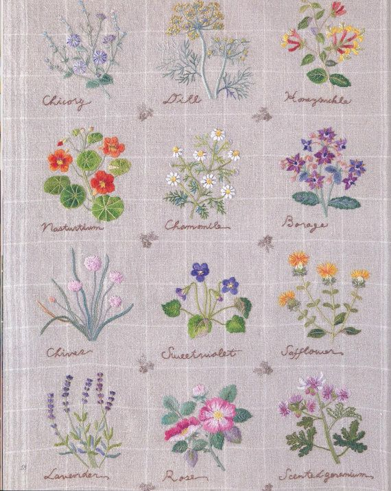 Japanese Herb Embroidery Hand stitches Flowers ebook by MiaoLife