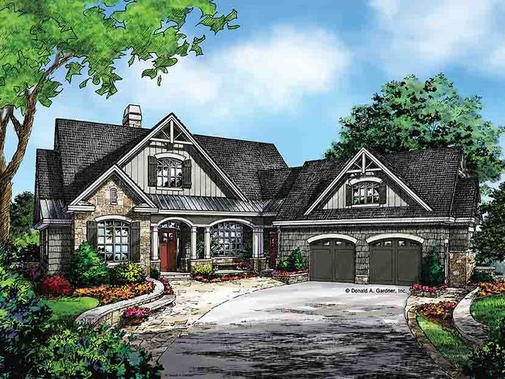 Eplans craftsman style house plan craftsman style ranch Ranch home plans with walkout basement