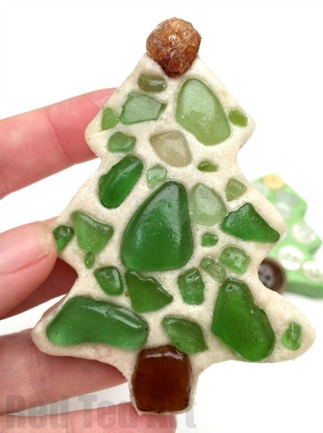 Sea Glass Ornaments - turn your beach finds into Christmas Keepsakes, by turning…