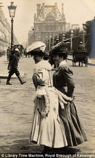 Paris, 3rd June 1906 -two well-dressed women stand in the streets of the French capital on the same day       The Parisian images were taken during Sambourne's trip to the French capital in 1906.   Read more: http://www.dailymail.co.uk/femail/article-2173872/Edwardian-street-style-Astonishing-amateur-images-capture-fashion-women-London-Paris-century-ago.html#ixzz20o2csC7Z