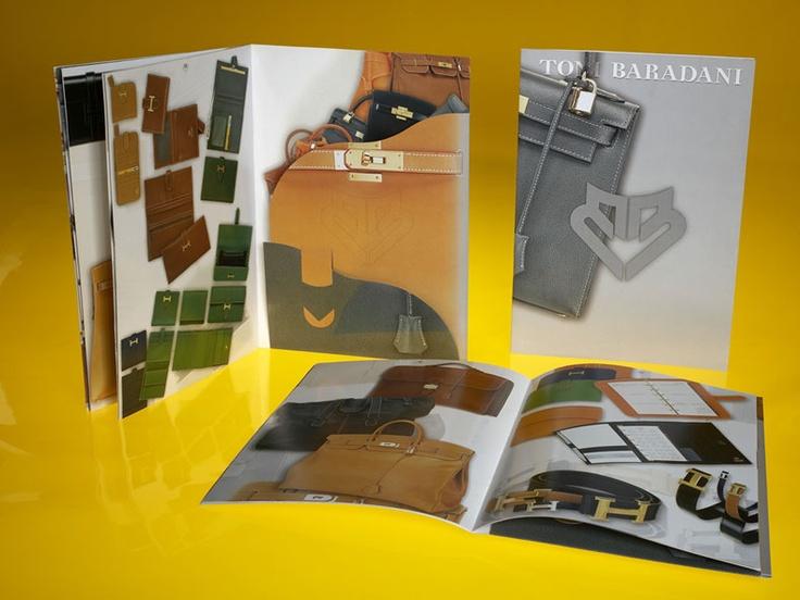 > Cliente (client):  Toni Baradani, (Italia).  > Settore di attività (line of business):  borse e accessori in pelle.  > Lavoro creativo (creative work):  project, art direction, graphic design.