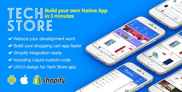 techstore react native ecommerce mobile app for shopify. Black Bedroom Furniture Sets. Home Design Ideas