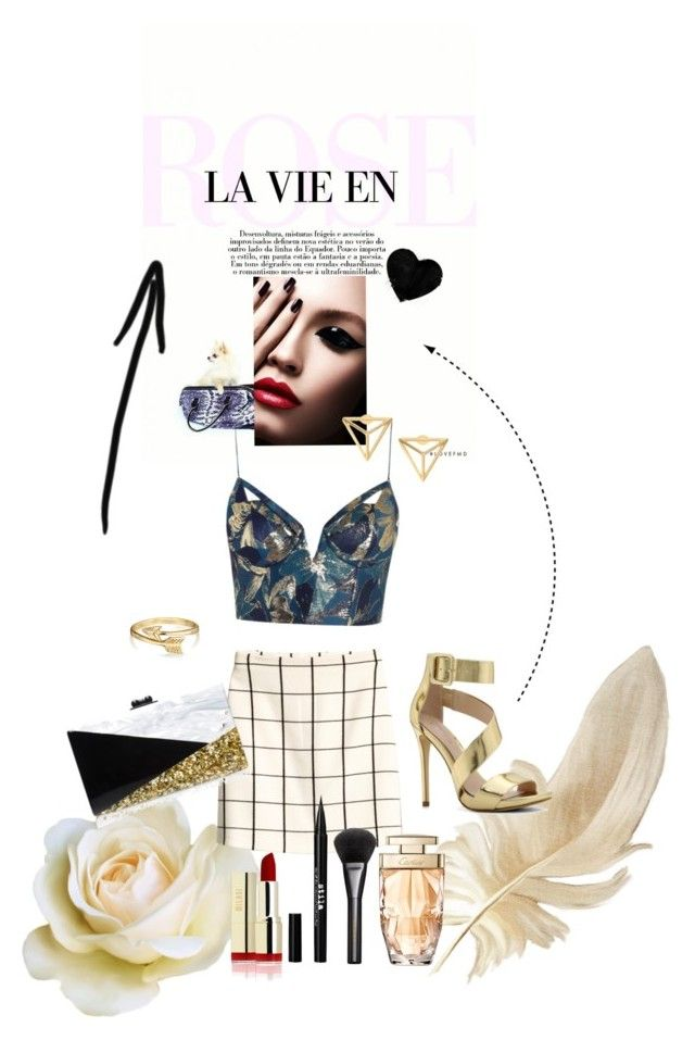 """""""stay gold"""" by deluniq on Polyvore featuring Zimmermann, ALDO, Bling Jewelry, Edie Parker, Stila and Gucci"""