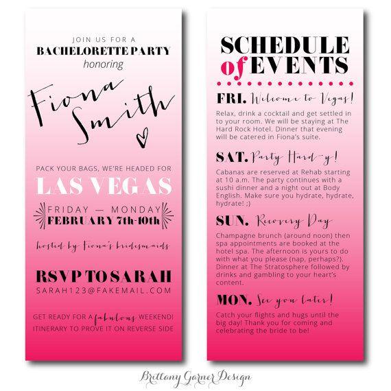 95 best images about Bachelorette Invites – Las Vegas Bachelorette Party Invitations