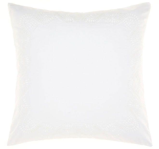 Linen House Naturals Rosie European Pillowcase White