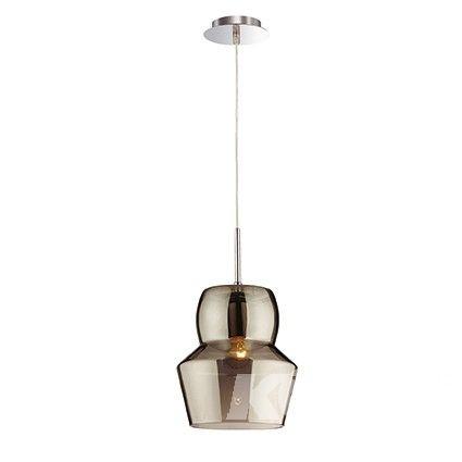 Zeno lampa wisząca 1x40W E14 16cm szary