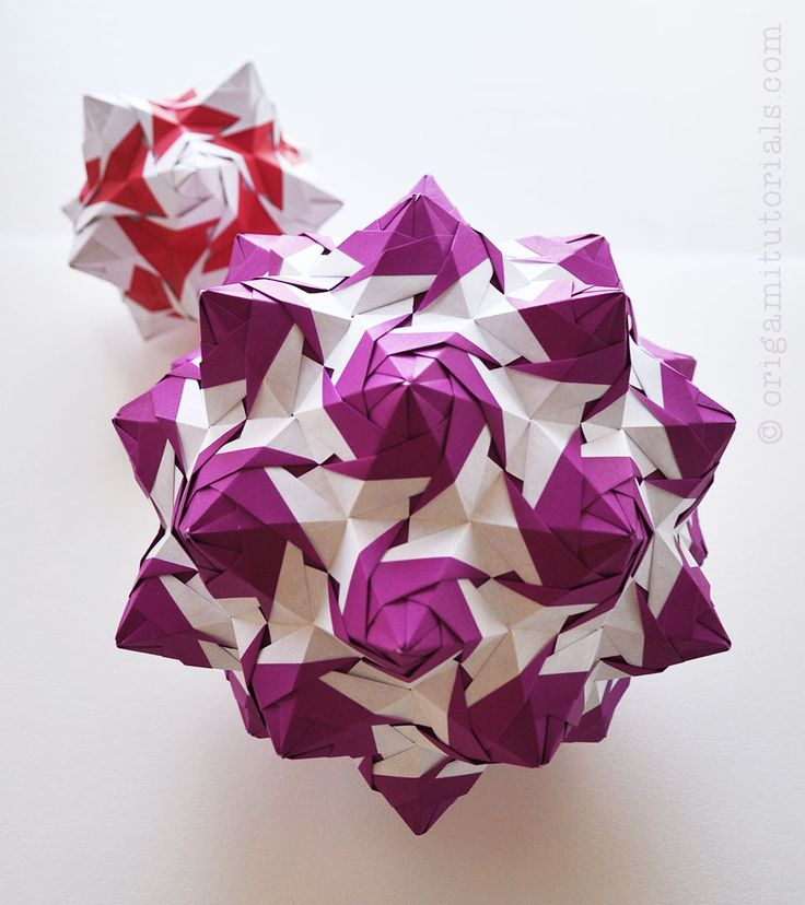 Rose Unit Kusudama | Origami Tutorials