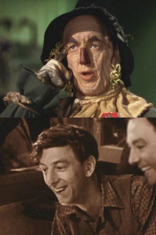 "Raymond Wallace ""Ray"" Bolger as the Scarecrow in ""The Wizard of Oz"". 1904 - 1987."