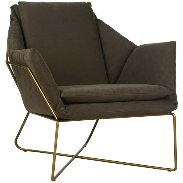Best Benson Chair In Moss Green Brass Accent Chairs For Sale 400 x 300