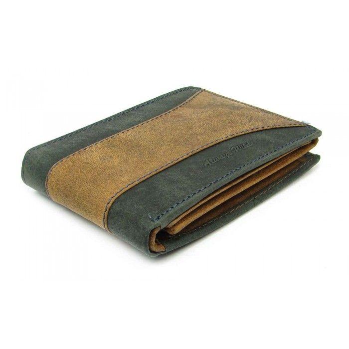 Kožená peněženka hnědá pánská - peněženky AHAL