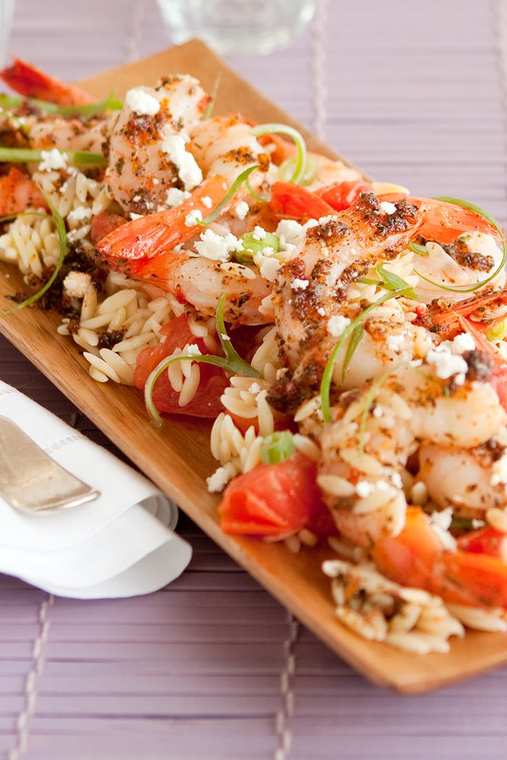 #Epicure Sylvie's Sun-dried Tomato Pesto with Shrimp and Feta (240 calories/serving)