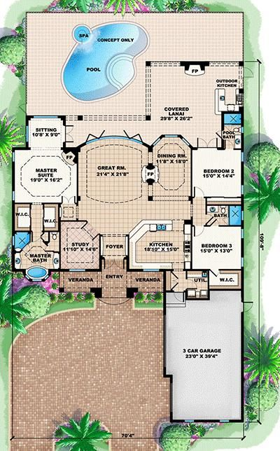 best 10+ house plans with pool ideas on pinterest | sims 3 houses