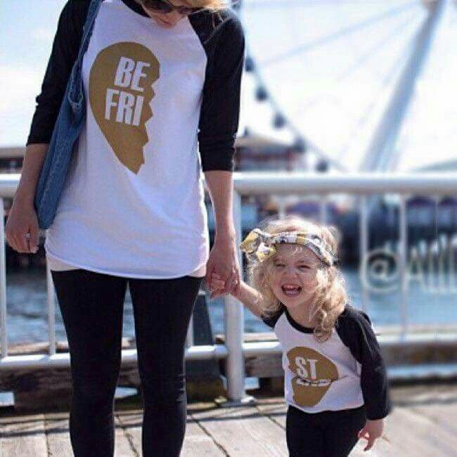 Mommy and daughter Best Friends tees... So adorable!!!