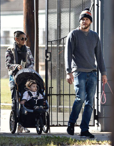 Ashton kutcher and mila kunis with baby wyatt out and for New orleans street style