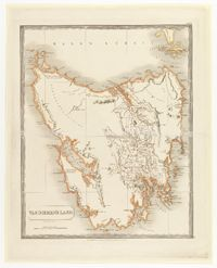 This is a really old, historical map of Tasmania from the year 1828.
