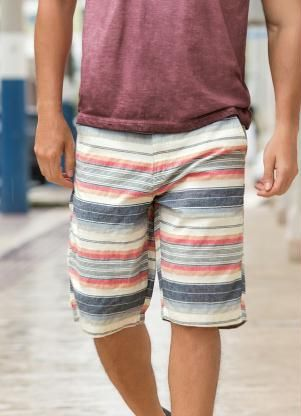 Bermuda Masculina Bolso Frente e Costas Listrada - Posthaus