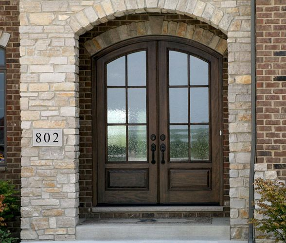16 Fiberglass Siding Home Design Ideas: Arched Front Door W/arched Brick & Arched Front Porch