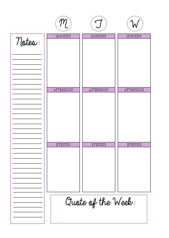 A5 Vertical Layout Printable Planner Inserts By Jessaplanners Planner Pinterest Cas