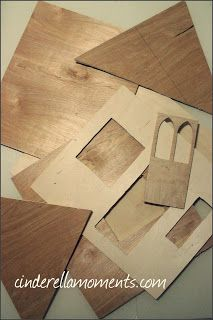 Pieces of walls I cut out of pretty thin plywood.  I buy the plywood sheets at the regular big box hardware stores.   It costs about $11 a sheet.