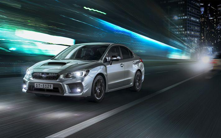 Indir duvar kağıdı Subaru WRX, 2018 arabalar, gece, Subaru Impreza, Japon arabaları, Subaru