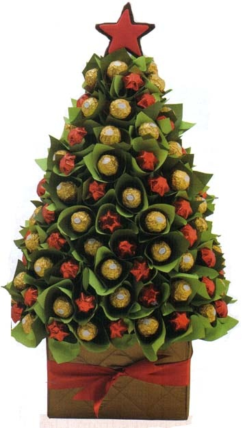 How fun and festive! Christmas Candy Tree