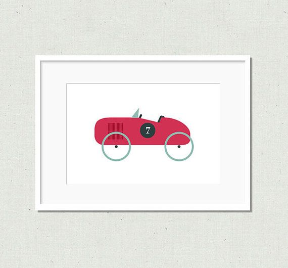 Modern toy car prints vintage car nursery decor by littleladyworks