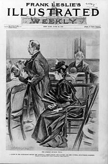 Lizzie Borden during the trial, by Benjamin West Clinedinst