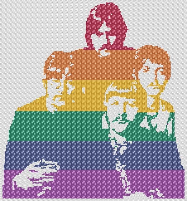 The Beatles Colourful Pdf Cross Stitch Pattern 163 2 50 Via
