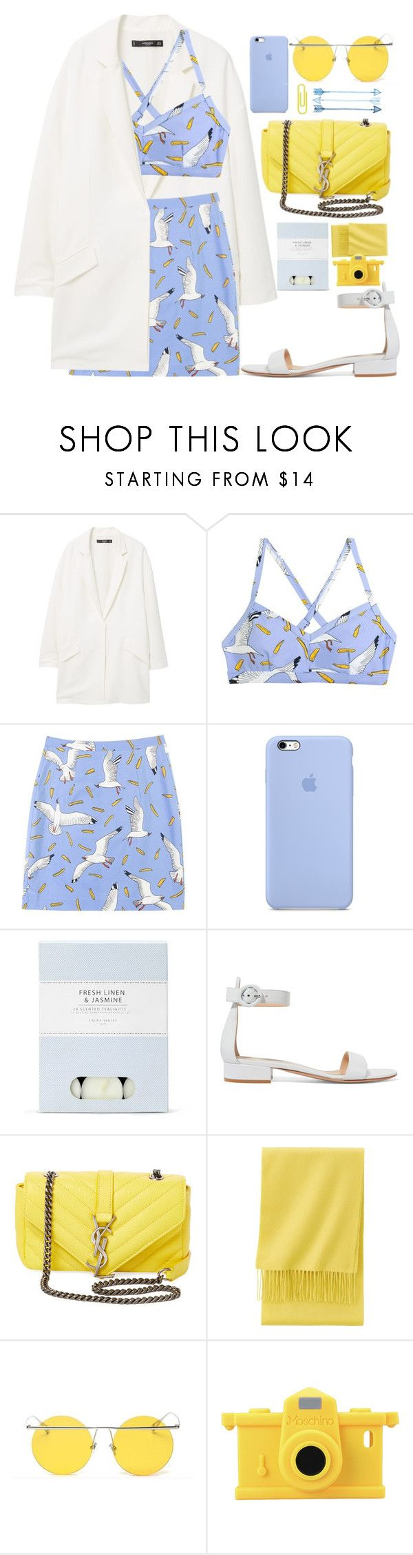 """""Homie"" ft Meek Mill"" by tamaramanhardt ❤ liked on Polyvore featuring MANGO, Laura Ashley, Gianvito Rossi, Yves Saint Laurent, Uniqlo, LMNT, Moschino and vintage"