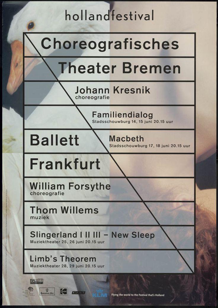 Holland Festival, Choreografisches Theater Bremen, Ballett Frankfurt _ Irma Boom