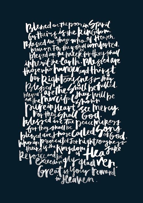 { #quote :: great is your reward in heaven / beatitudes // matthew 5:3-10 }
