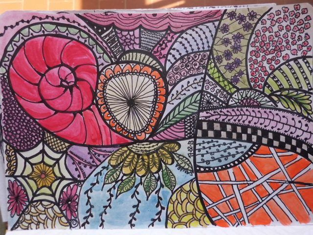 My doodle :) loads of fun doing it & painting it!