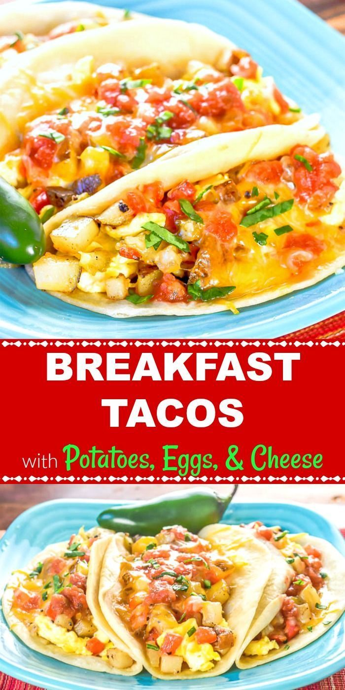 This Breakfast Taco Ain T No Taco Bell Breakfast It S Way Better These Breakfast Tacos With Potato Breakfast Tacos Taco Bell Breakfast Healthy Snacks Recipes