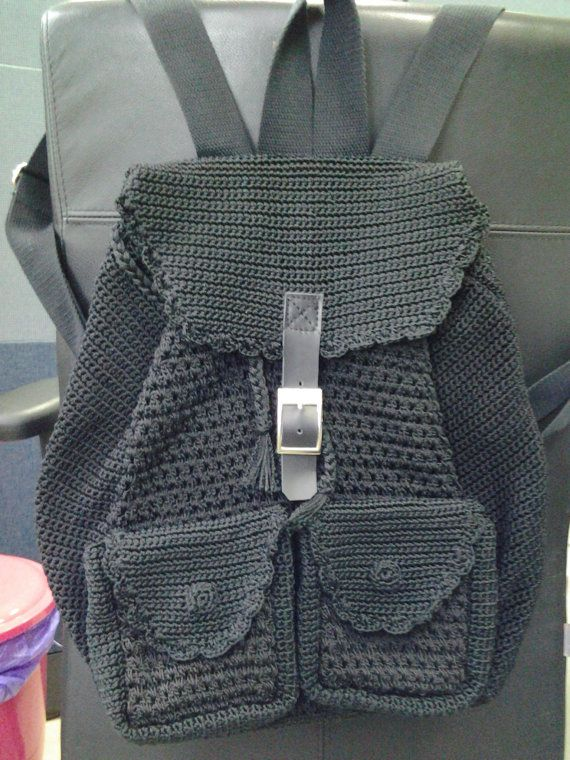 crochet Backpack by Diyozecrochet on Etsy