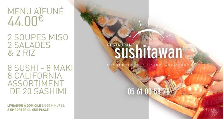 Menu AIFUNE // #Sushitawan http://www.sushitawan.fr   #sushi #toulouse #japonais #cuisine #authentique #jap #restaurant