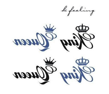 sportyviews.com King And Queen Crown Tattoo Designs
