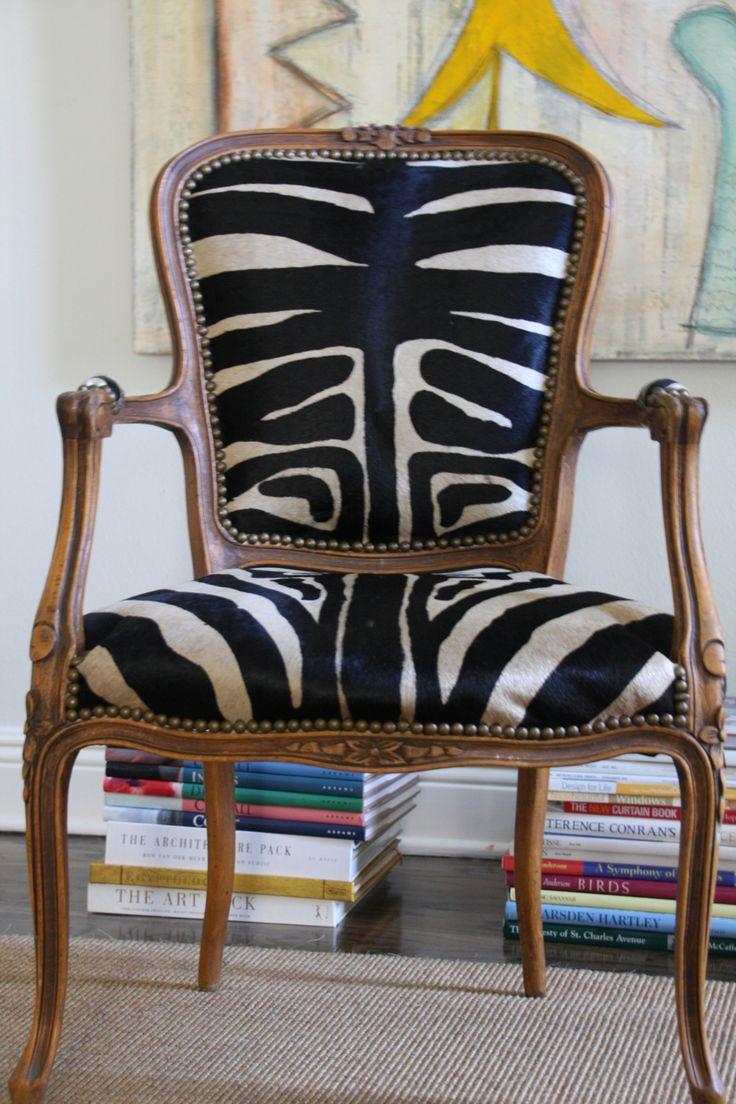 zebra hide chair