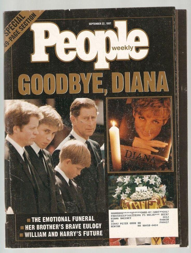 People Weekly Goodbye Princess Diana Cover September 22