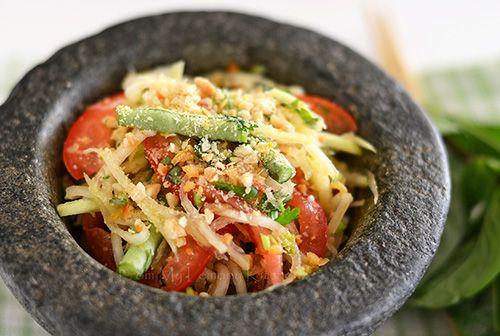 ... | Green papaya salad, Coconut muffins and Cardamom lassi recipes