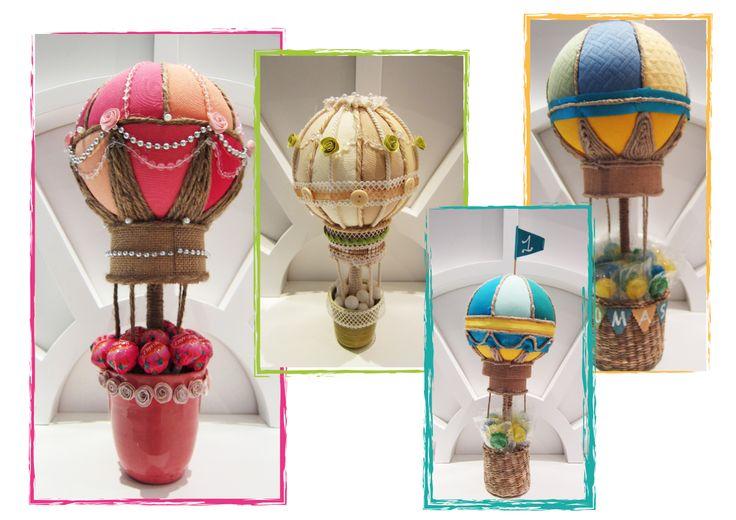 Globos para fiestas infantiles hechos con telas de - Manualidades con globos ...