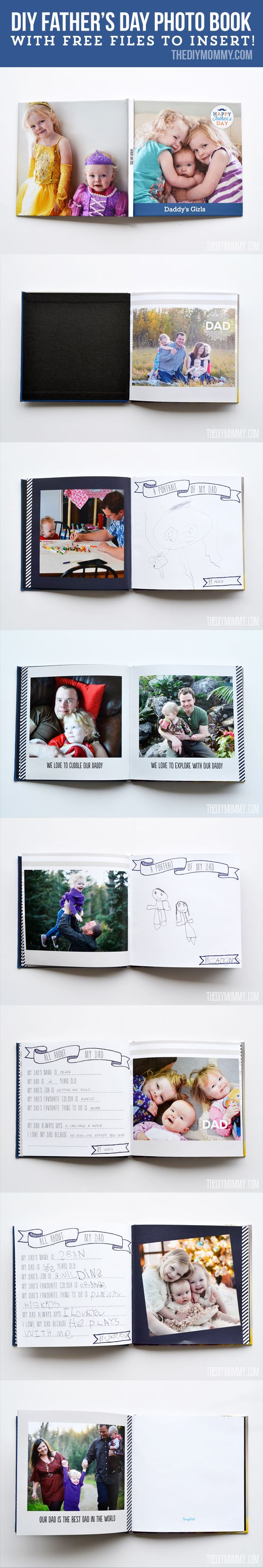 An adorable Father's Day gift idea: a photo book with pages the kids can fill in + a custom mug full of his favourite treats! #snapfishbloggers