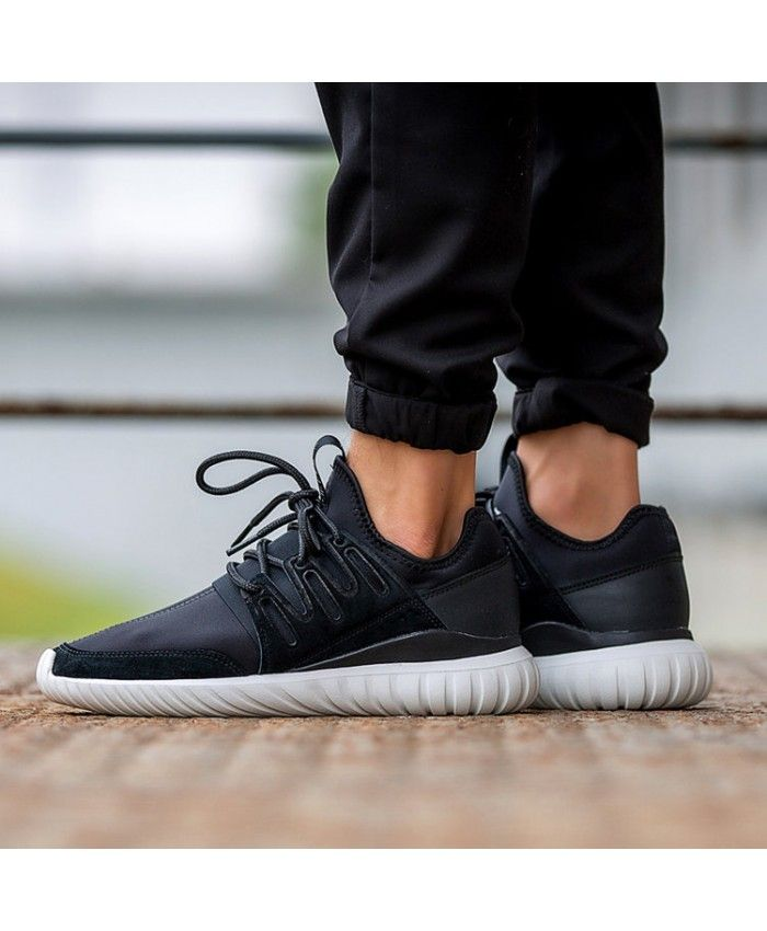 running shoes get cheap best deals on Adidas Tubular Radial Trainers In Black White | adidas ...