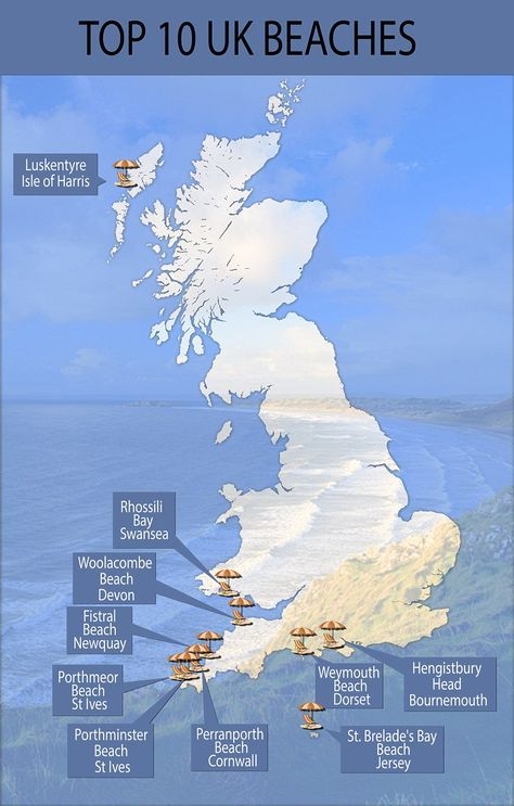 Map Of Uk Beaches.The Most Stunning Beaches In The Uk As Voted For By Tripadvisor