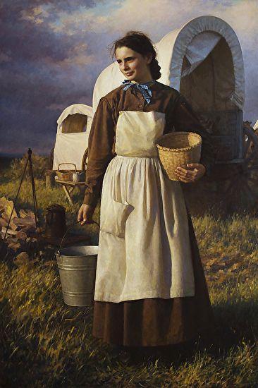 Girl on Oregon Trail by Benjamin Wu