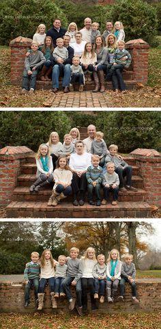Extended family session posing   http://www.lisasinclairphotography.com/leesburg-extended-family-photographer-four-generations/