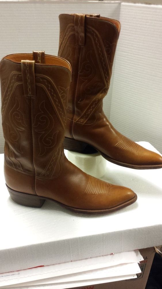 Lucchese San Antonio Men's cowboy boots (size 12 narrow) in mahogany leather