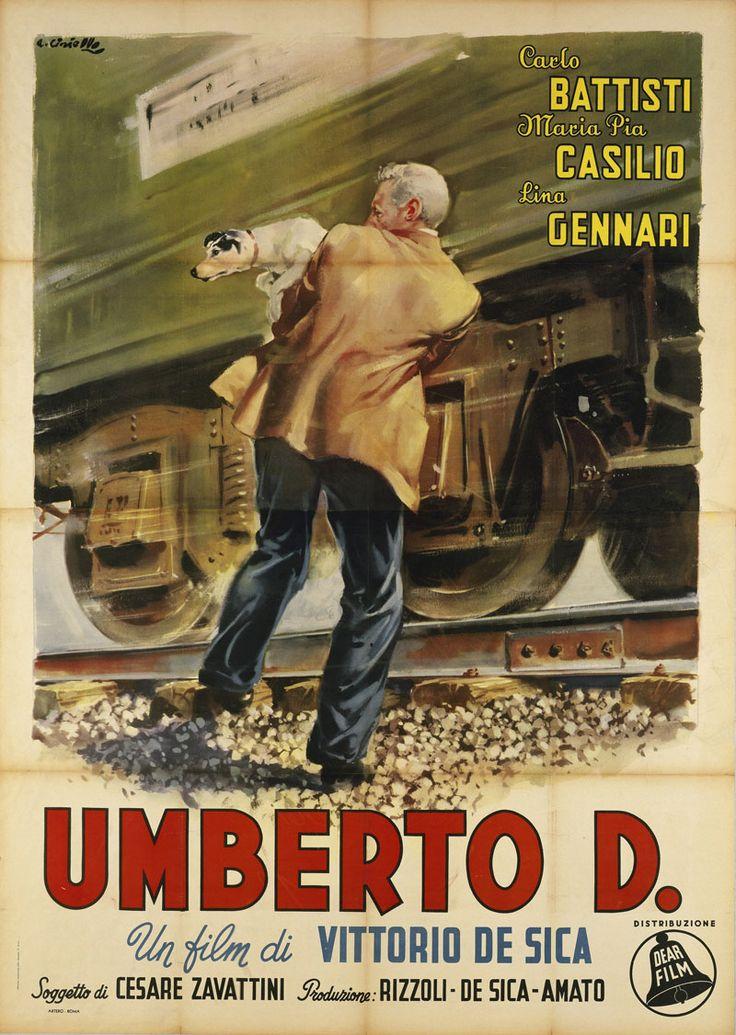 Italian 4-foglio for UMBERTO D. (Vittorio De Sica, Italy, 1952). Artist: Averardo Ciriello [see also] Poster source: Quotidiano Piemontese See UMBERTO D. in 35mm at Film Forum today and read more...