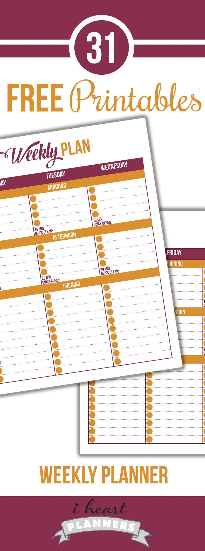 Welcome to Day 15of the 31 days of free printables! Today's printable was a request from Leslie. She wanted a full page weekly schedule in earth tones. She wanted lines below morning, afternoon, and evening to keep track of everyday jobs that need to be done. She also wanted space to write down her 15 …