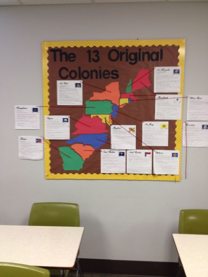 13 colonies bulletin board